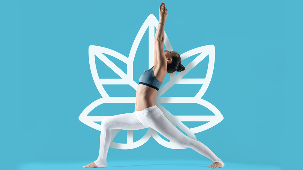 SLOW for calming yoga pose